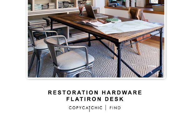 restoration hardware flatiron desk copy cat chic cats