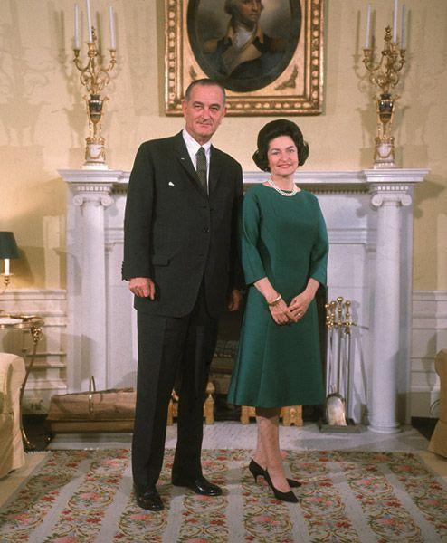 Lady Bird Johnson and Lyndon B. Johnson