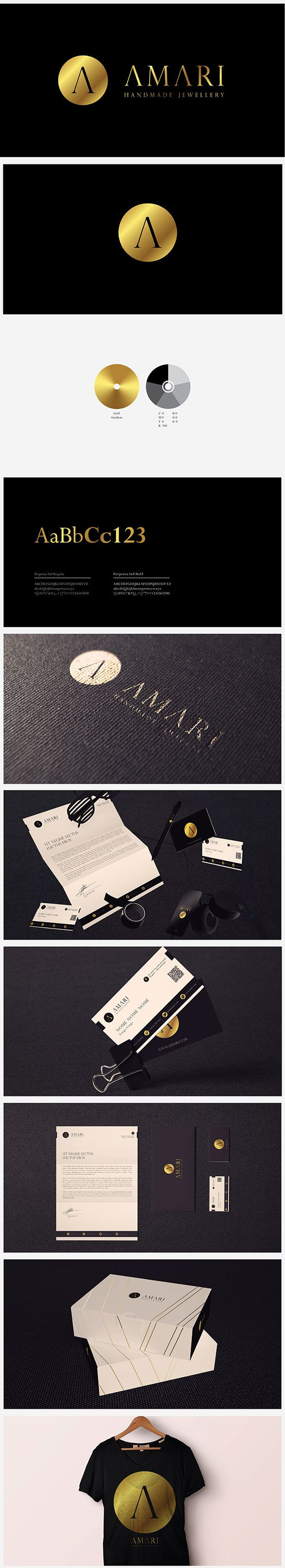 AMARI is a newely established Jewellery brand. They have been in the market for over ten year but without a defined brand name and identity. In order to expand and solidify the business it was decided that it would need a new brand and image. Thus, NSV Design was chosen to design the new face of the business. The client asked for an identity that would portrait luxury by using tones of gold contrasted in black backgrounds.  Enjoy!