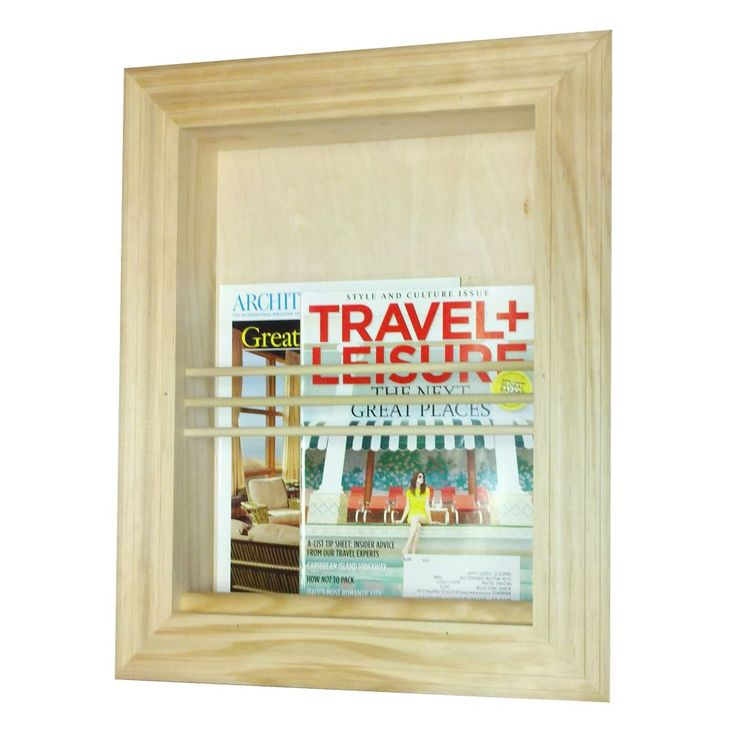 WG Wood Products Recessed Traditional Magazine Rack