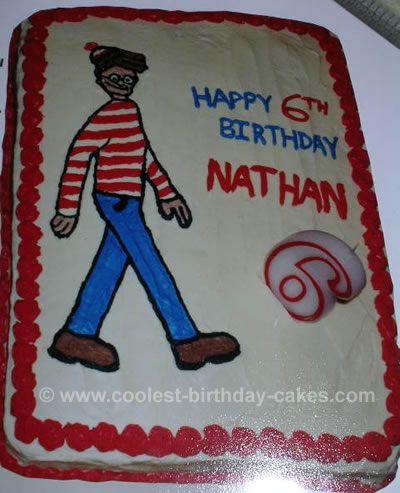 Wheres Waldo Birthday Cake