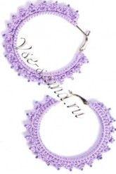 Серьги - кольца Сирень