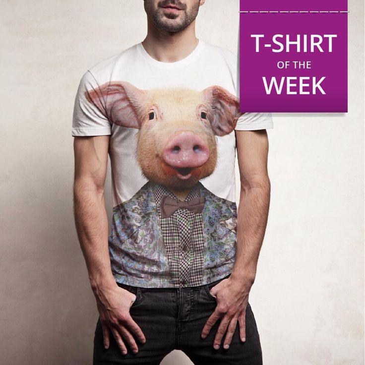Un maiale su una t-shirt? Di più! Sulla T-Shirt of The Week! Guarda Pigman > http://bit.ly/1NPr3IA #tshirtoftheweek #bedifferent #pig