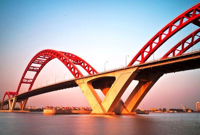 Puente en Guangzhou (China)