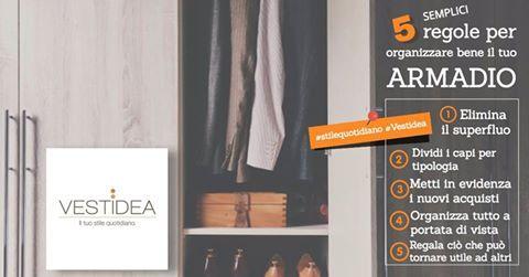 Tante le compere, tanto lo #shopping, ecco qualche piccolo consiglio per organizzare l' #armadio con un po' di manualità e tanto spirito pratico per far spazio a nuovi #capi! #stilequotidiano #Vestidea