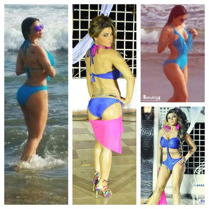 Haifa Wehbe vs Rakhi Sawant  - blue swimsuit