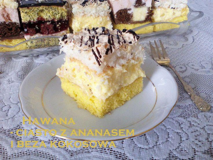 Hawana - ciasto z ananasem i kokosową bezą PRZEPIS