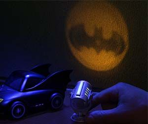 The bat signal mini light goes on your desk up in that high rise in Gotham City. And when the tiny Joker comes around to screw with your paperclip supply...
