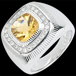 #Anello Occhio Solare - Argento, #diamanti e pietre dure http://argento.edenly.com/