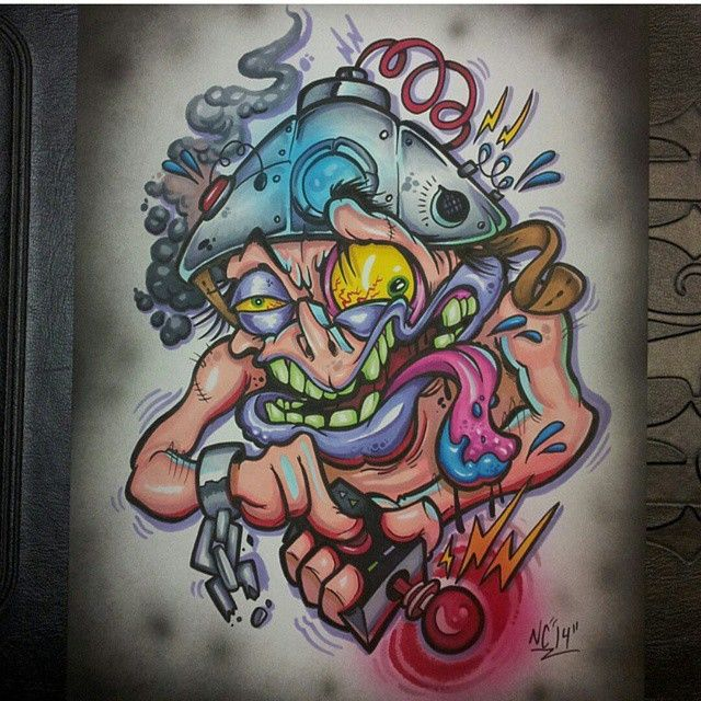 New School New School Tattoo Custom Tattoo Design Badass Art