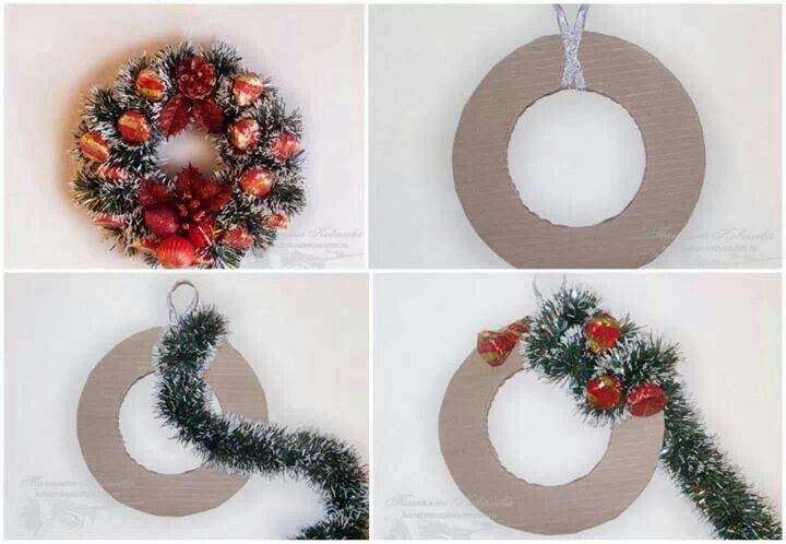 Easy make christmas wreath
