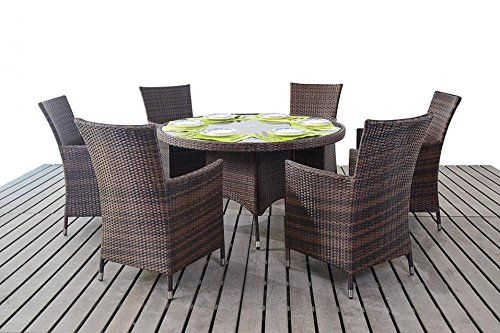 sydney rustic garden furniture 6 seater round dining table chair set rattan furniture sets pinterest gardens round dining and products