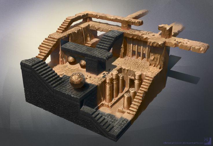 ArtStation - Desert Dungeon, chromaTinker !