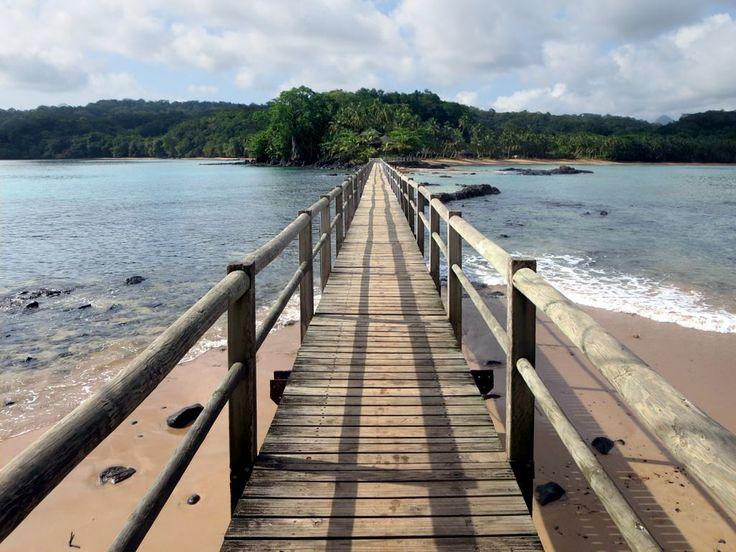 This footbridge connects Bom Bom Island to Principe Island, São Tomé and Príncipe.