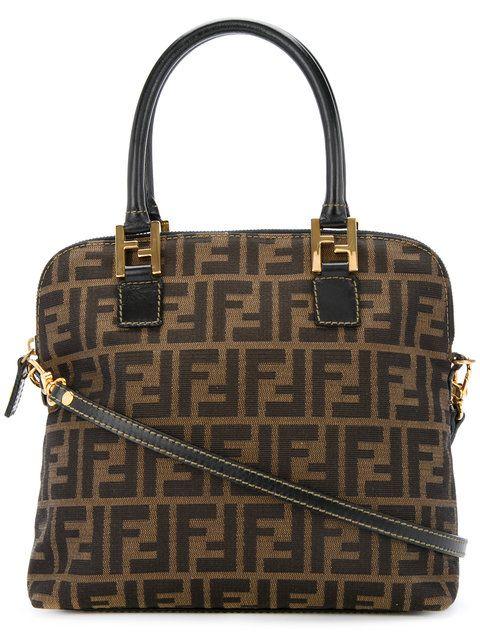 ea374850a0fe Fendi Vintage Zucca monogram shoulder bag