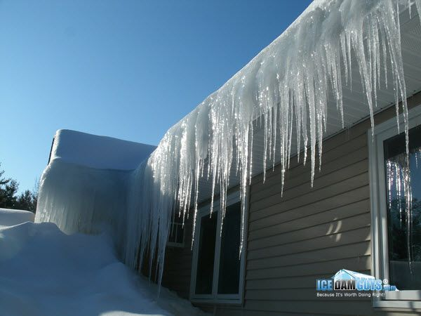 What Is An Ice Dam Ice Dams Through The Roof Ice Dam Removal