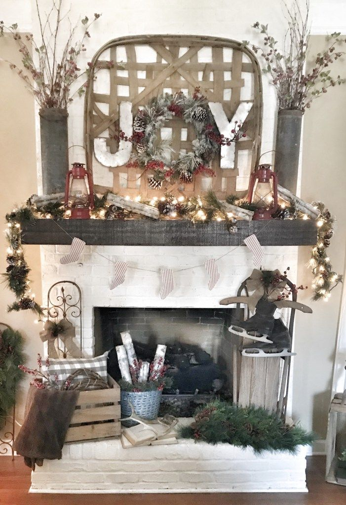 Bless This Nest | My 2017 Christmas Home Tour and Blog Hop - Christmas Mantel Id...