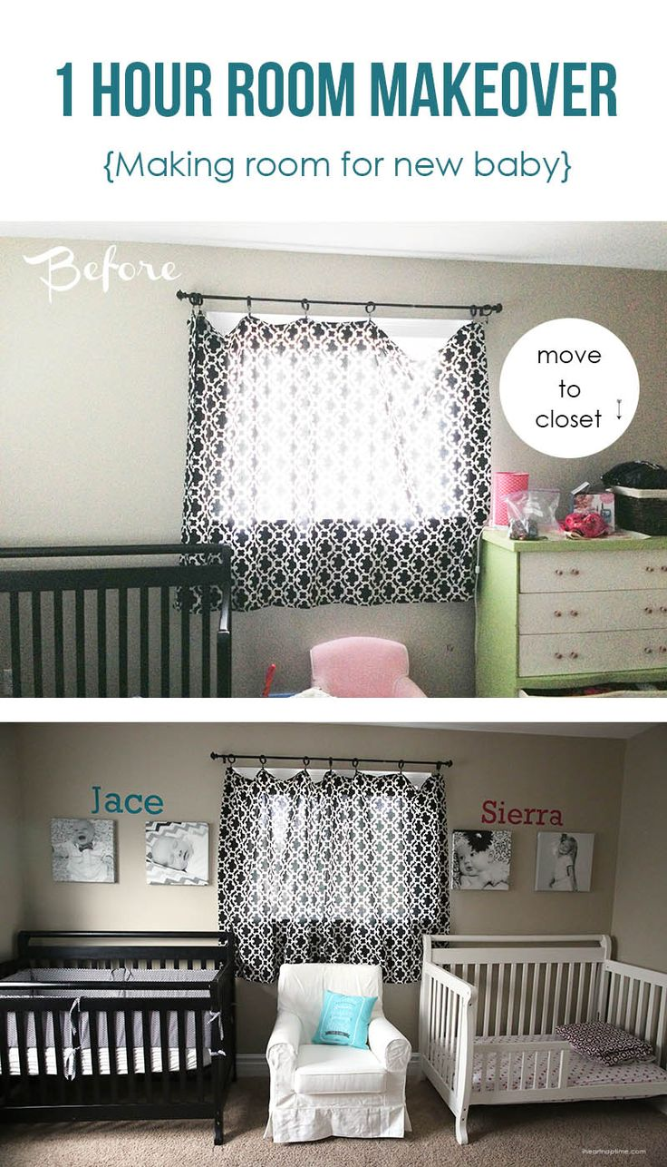 One hour room makeover {making room for a new baby} #shutterflydecor