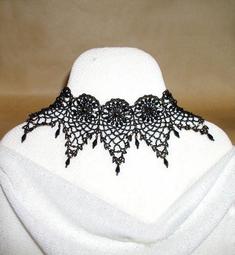 how to make lace jewelry instructions