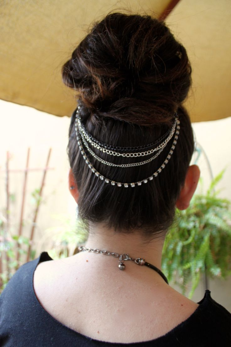 Fa fancy hair bun accessories - Diy Layer Up Head Chain Every Year At Fancy Made
