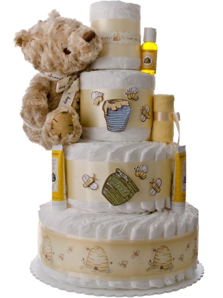 Winnie the Pooh 4 Tier Diaper Cake: The Unique Diaper Cake Gift