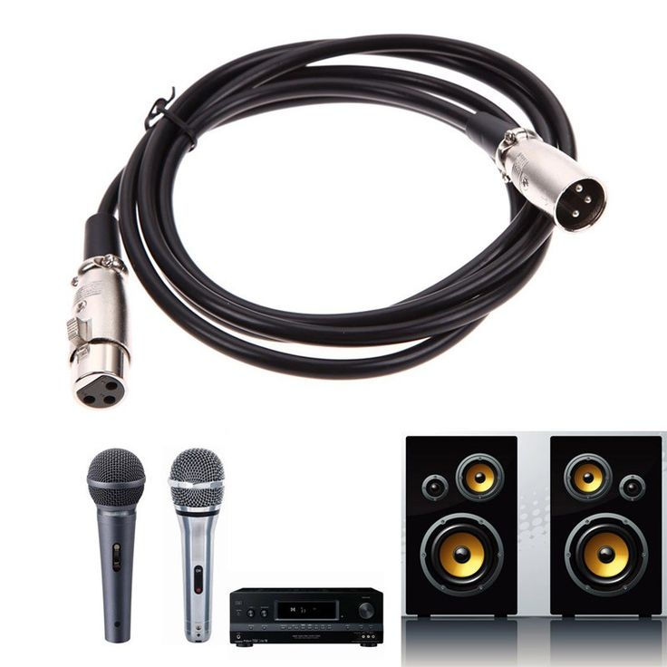 Wholesale XLR microphone cable line Shielded 3 Pin XLR Male To Female Microphone Audio Extension cord 1.8/3/4.5/5/6/7.6/8/10m #Affiliate