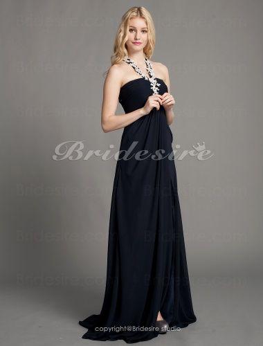 Bridesire - slida/kolumn Chiffong Svepsläp Halterneck Aftonklänning [403246] - SEK1,019.84 : Bridesire