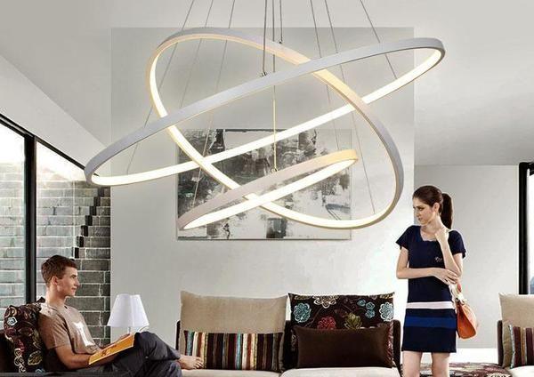 Indoor Modern Circular Ring Chandelier Modern Luxury Lighting Ring Chandelier Led Chandelier