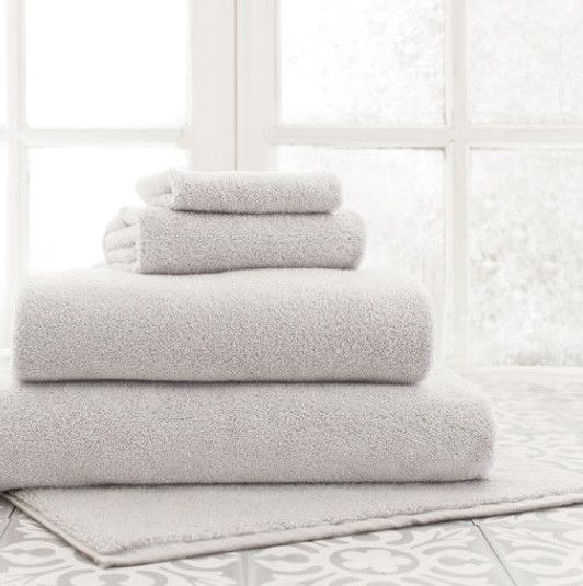 Gabriel Dove Gray Farmhouse Bath Collection-You'll reach for these soft, luxurious, superabsorbent, and durable cotton bath towels year after year. Pair with our coordinating soft, luxurious, superabsorbent, and durable cotton bath rugs and your will be in farmhouse HEAVEN.