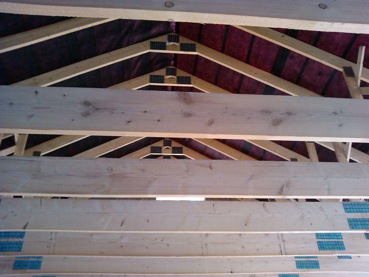 Film sous-toiture partie salon posé