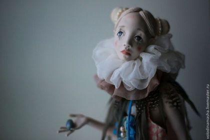 """Кукла """"Курочка"""" - кремовый,ручная авторская работа,кукла интерьерная,паперклей"""