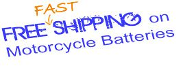 Free FAST Shipping on Motorcycle Batteries. http://www.batterystuff.com/batteries/motorcycle/