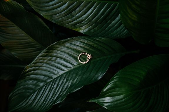 gold engagement ring photos