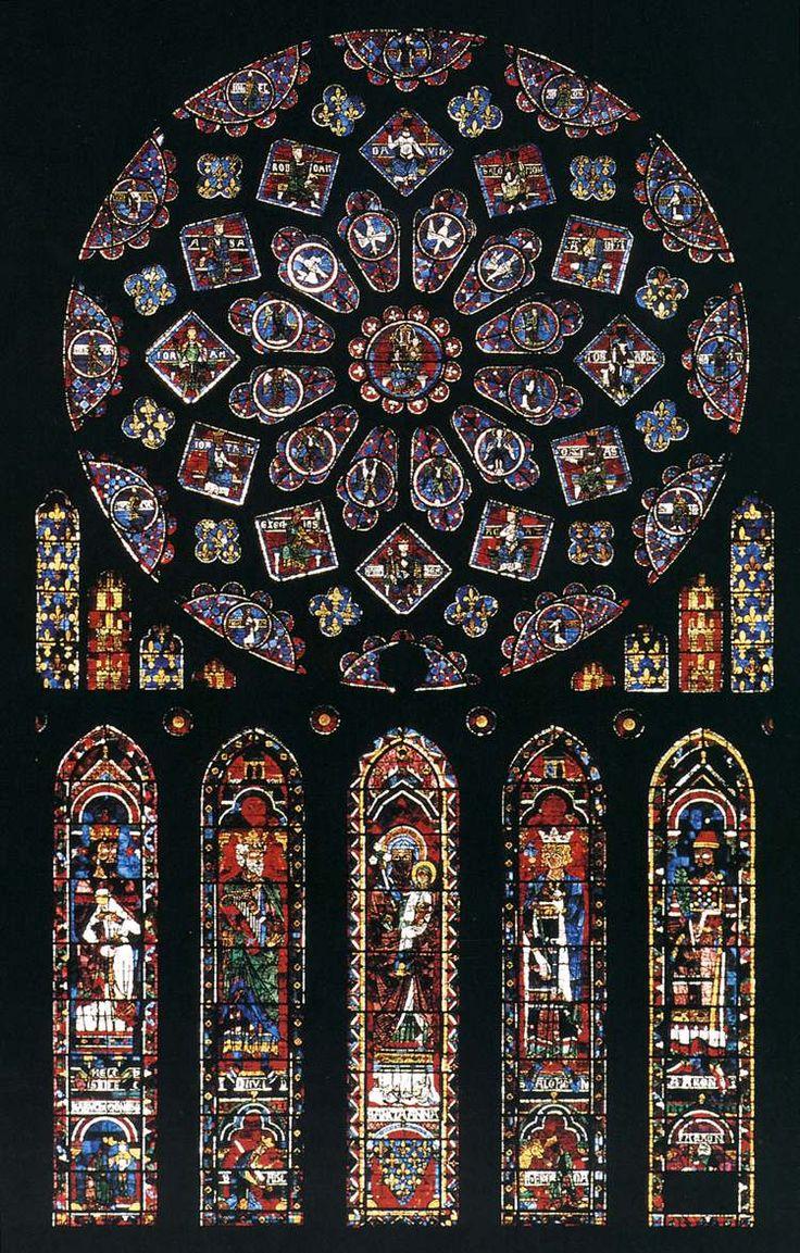 La palabra rosetón significa rosa. Se trata de una ventana, de forma circular, con vidrieras que decoraba las catedrales durante la Edad Media. Los rosetones iluminaban y dan un ambiente misterioso al interior de las iglesias.Éste es un ejemplo de rosetón de la Catedral de Chartres.