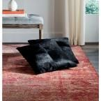 Carley Cowhide Pillow (Set of 2), Black