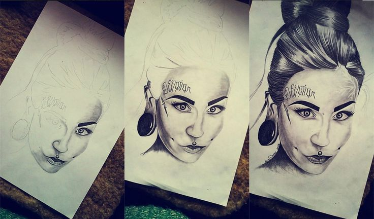 First portrait drawing <3 Monami Frost