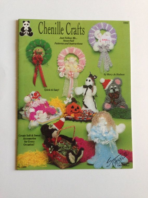 Chenille Crafts Pattern Design Originals 1992 Suzanne McNeill Pipe Cleaner Projects HTF Rare