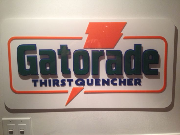 Vintage Gatorade sign from an antique store in Ottawa.