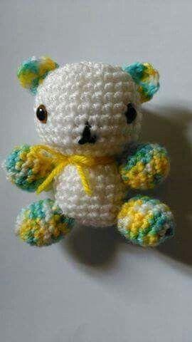 Crochet baby shower bear