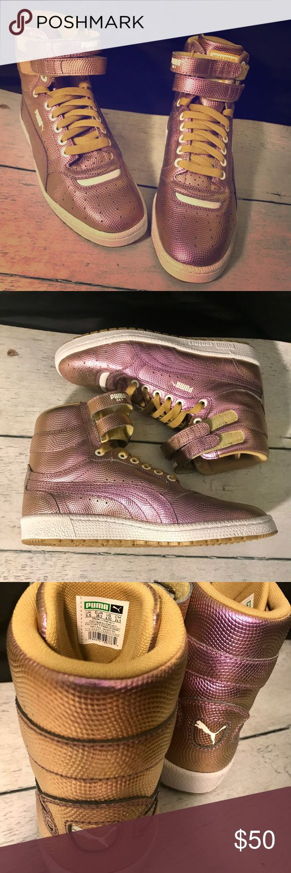 Puma high top sneaker Never worn! Fits Women's 8.5 Puma Hologram High Top Sky Sneaker! NEVER WORN! Jr/big kid size 6.5 also fits Women's size 8.5-9 Puma Shoes Sneakers