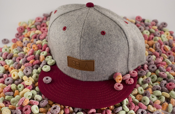 Leather Patch Snapback – Grey Marle Wool / Maroon | SBLA // Skinny Brunette Lifestyle Association #gettincereal fruit loops!