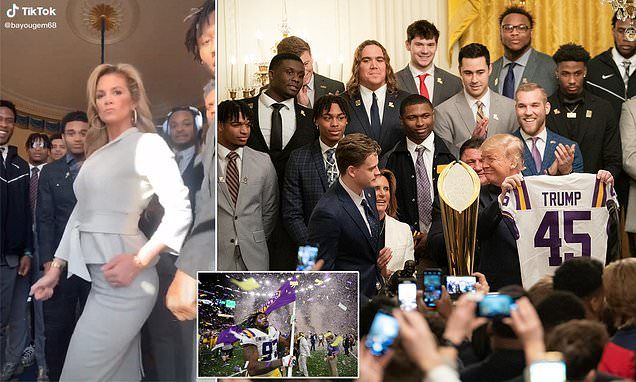 Lsu Get The Gat Video From White House With Mystery Woman Goes Viral In 2020 Lsu College Football Championship Ncaa Champion