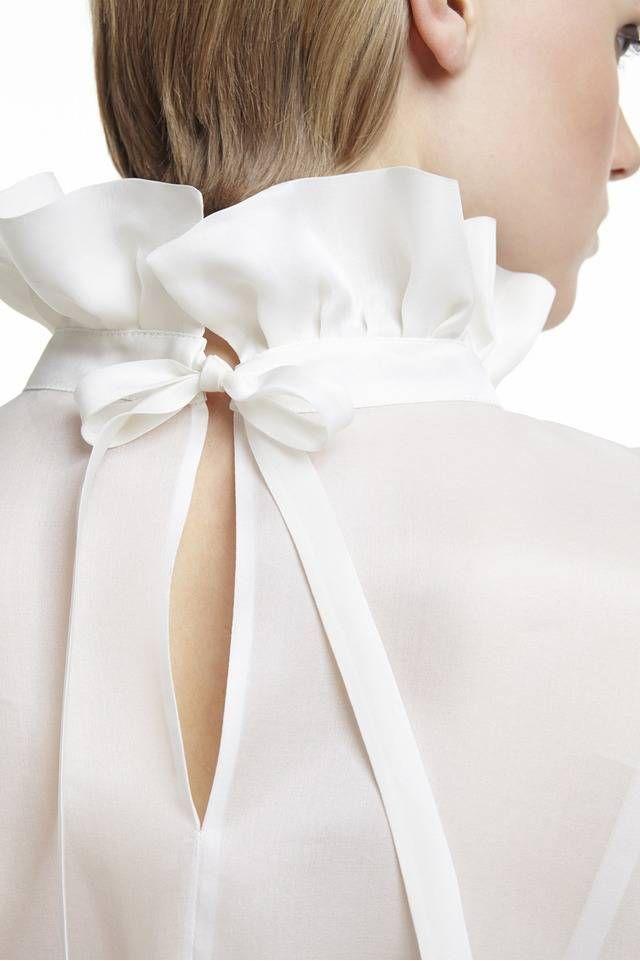 715ab23ede5c04 Plakinger White Silk organza blouse