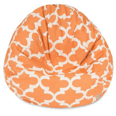 Trellis Bean Bag Chair Color: Peach - http://delanico.com/bean-bag-chairs/trellis-bean-bag-chair-color-peach-547135695/