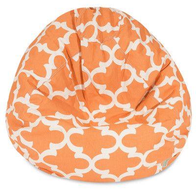 Trellis Bean Bag Chair Color: Peach - http://delanico.com/bean-bag-chairs/trellis-bean-bag-chair-color-peach-547135695/