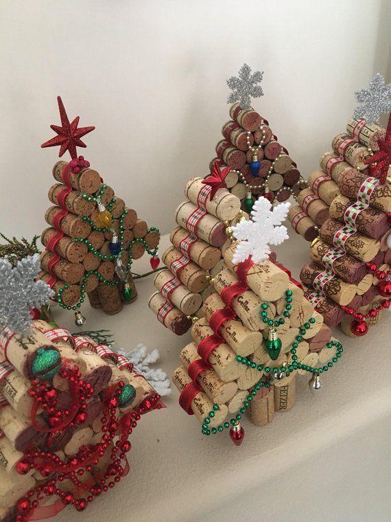 Wine cork Christmas Tree…..Upcycled Cork Christmas