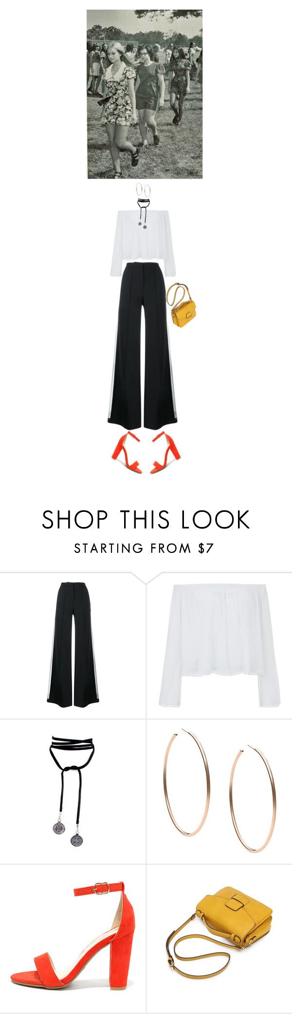 """""""Quick Trends #13 : That's the 70's show, go monochrome with touch of pop color"""" by pgrndjn on Polyvore featuring mode, ADAM, Michael Kors et Bamboo"""