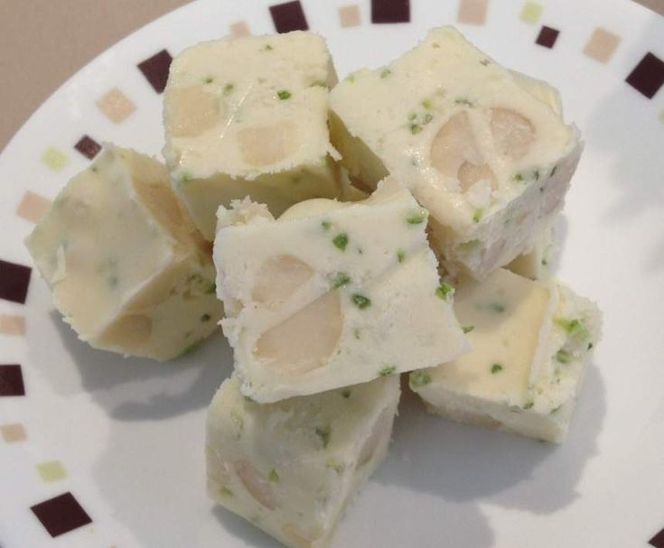 Recipe White choc, macadamia and lime fudge by Kate_79 - Recipe of category Desserts & sweets