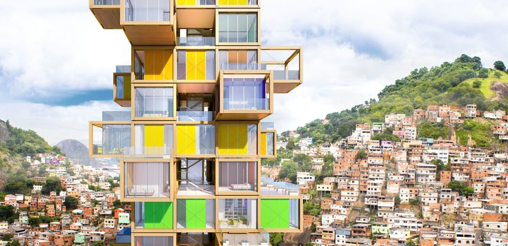 The Tree House by Rogers Stirk Harbour + Partners can be built anywhere in the world. This concept was designed to provide low-cost housing that can be built easily—and taken apart, if need be—while adding a vibrant dynamic to the local skyline.