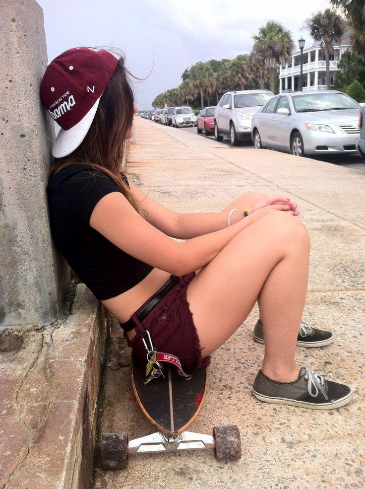 alabama hat, maroon shorts, & ombre sneaks